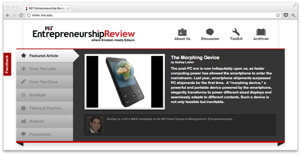 The Morphing Device  Featured Article on MITER
